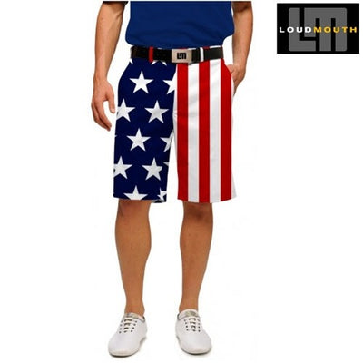 Mens American Flag Shorts