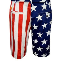 Stars and Stripes Mens American Flag Golf Shorts - The Flag Shirt