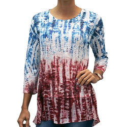 Americana Chiffon Tunic with Sequins - The Flag Shirt