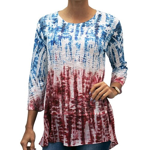 Americana Chiffon Tunic with Sequins