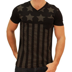 Mens Jersey Print Americana T-Shirt - The Flag Shirt