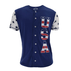 Red White Blue Star Sleeves & Back Baseball Tee - The Flag Shirt