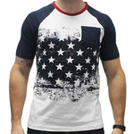 Load image into Gallery viewer, Men's Sleeve and Pocket American Flag T-Shirt - theflagshirt