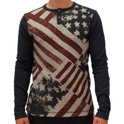 Mens Abstract American Flag Long Sleeve T-Shirt - The Flag Shirt