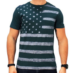 Mens Distressed Stars and Stripes American Flag T-Shirt - The Flag Shirt