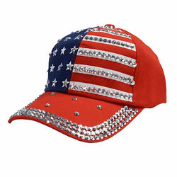 American Flag Hat With Rhinestones