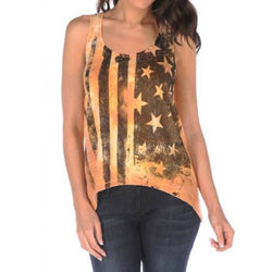Signorelli High Low Tan Black Flag Tank - The Flag Shirt