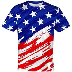 Patriotic Shirt USA Flag quick-dry Jersey
