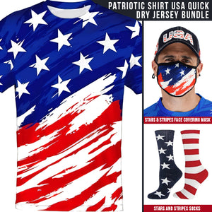 Patriotic Shirt USA Quick dry Jersey - the flag shirt