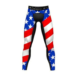 Mens USA American Flag/Black Leggings - The Flag Shirt