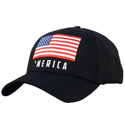 'Merica with USA Flag Baseball Hat - The Flag Shirt