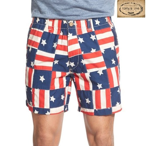 Vintage American Flag Snappers Shorts - The Flag Shirt