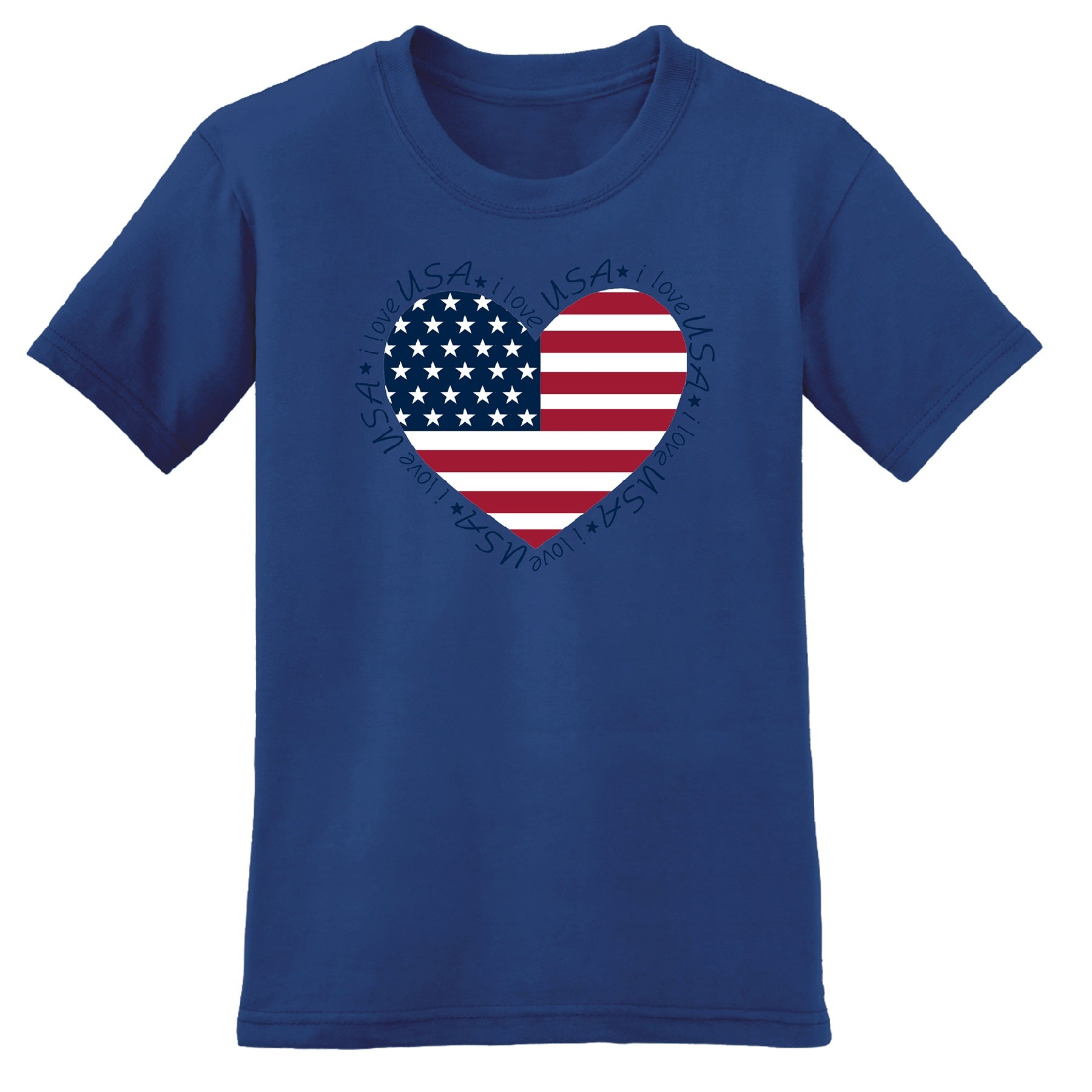 USA Heart Women T-Shirt - theflagshirt