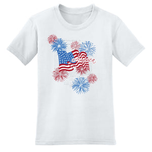 Flag Fireworks 4th of July Women's T-Shirt - theflagshirt