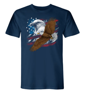 The Flying Bald Eagle, American Made Short Sleeve Tee - theflagshirt