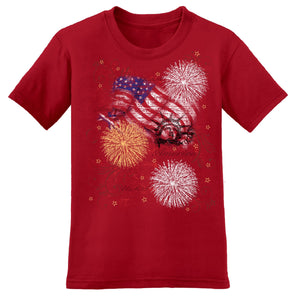 Patriotic Burst Women's T-Shirt - The Flag Shirt