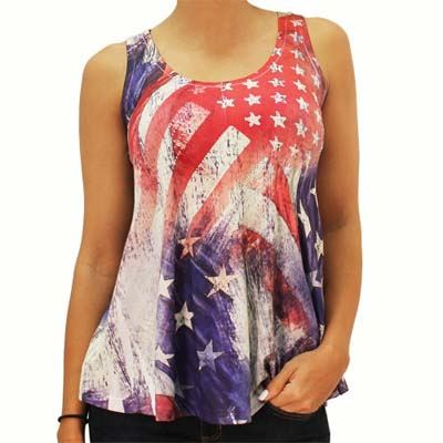 Womens Plus Size American Flag Clothes