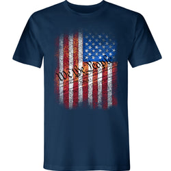 We The People Vertical Flag Graphic, American Made Short Sleeve Tee - theflagshirt