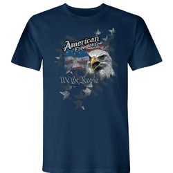 Collaged American Freedom USA Made Short Sleeve Tee -The Flag Shirt