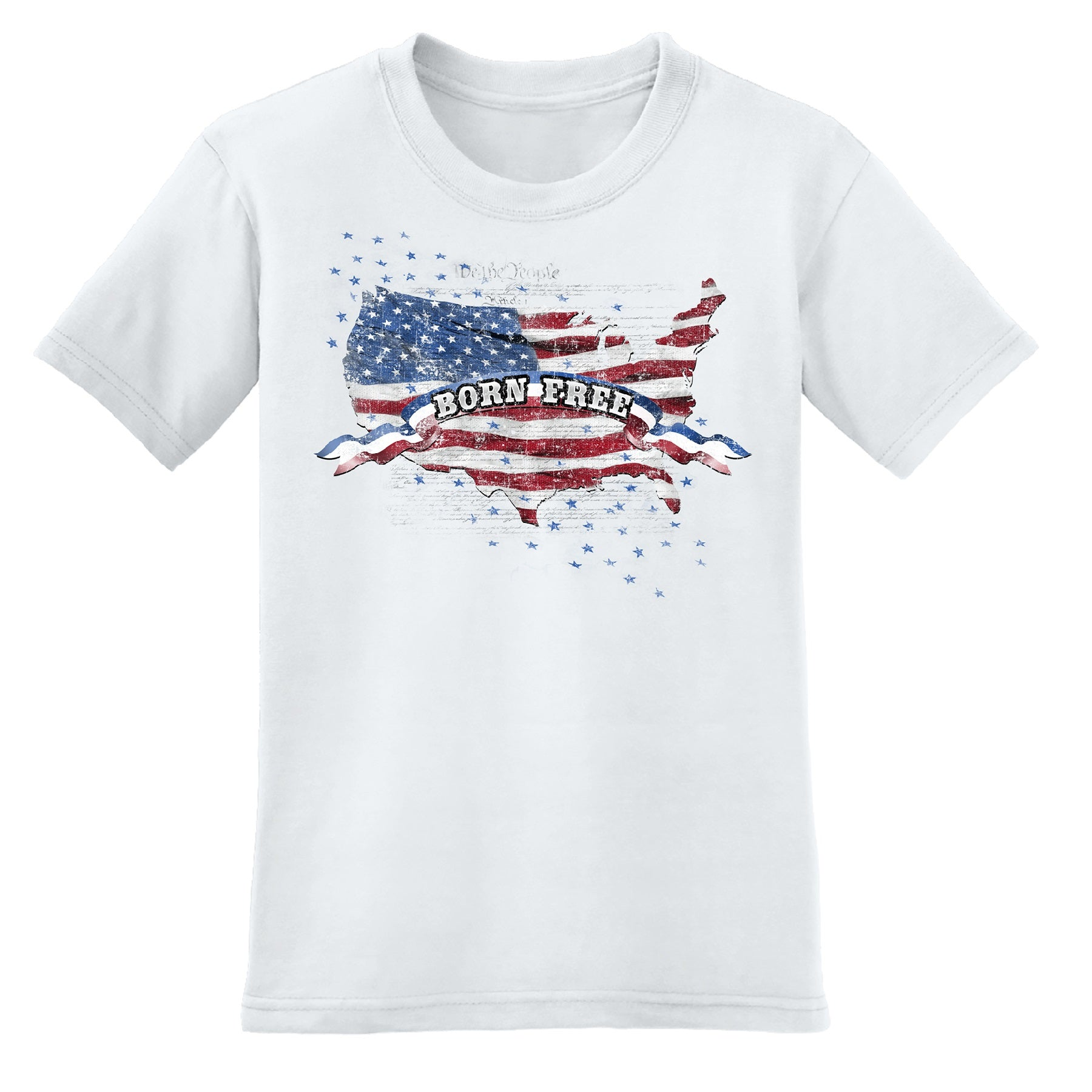Born Free Men's T-Shirt 100% Made In America - theflagshirt