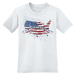 Born Free Men's T-Shirt 100% Made In America - The Flag Shirt