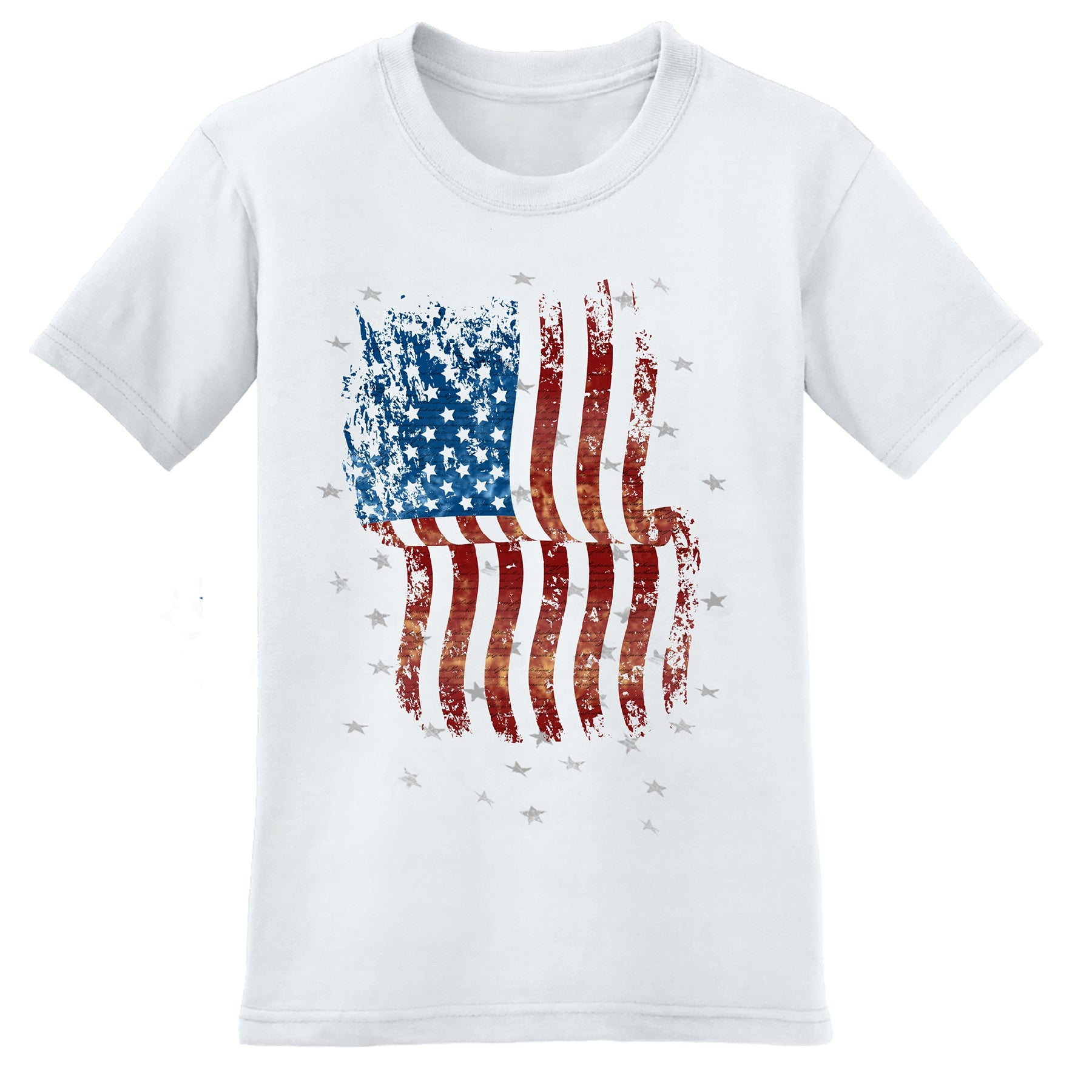Distressed American Flag Men's Made In America T-Shirt
