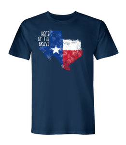 Texas Home Of the Brave American Made Short Sleeve Tee - theflagshirt