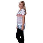 Load image into Gallery viewer, Flag Stars and Stripes Womens Top with Rhinestones