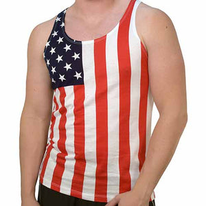 Mens American Flag Stars and Stripes Tank Top