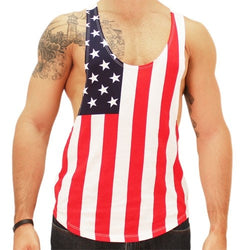 Mens Patriotic Body Builder Tank - The Flag Shirt