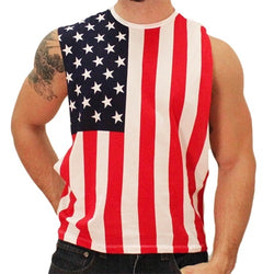 USA Open Side Muscle Tank - The Flag Shirt