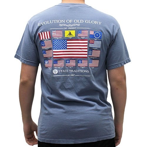 Evolution of Old Glory Mens T-Shirt - The Flag Shirt