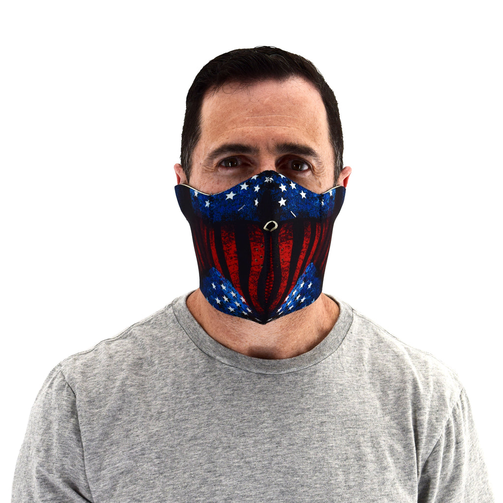 usa reversible half face mask - the flag shirt