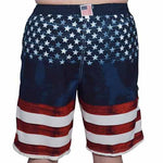 Load image into Gallery viewer, USA Mens American Flag Stripes Board Swim Shorts