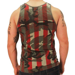 American Flag Camo Mens Tank Top - The Flag Shirt