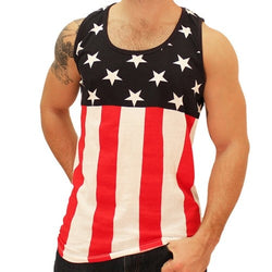 Stars On Top Mens Tank Top - The Flag Shirt