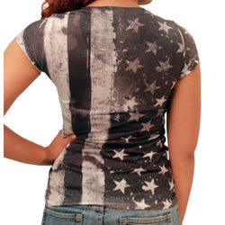Bar Vertical Black and White Flag - The Flag Shirt