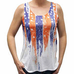 Load image into Gallery viewer, Ladies Vertical  USA Flag Tank - The Flag Shirt