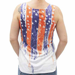 Ladies Vertical  USA Flag Tank - The Flag Shirt