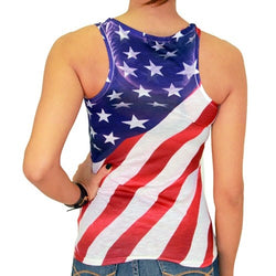 Waving Flag Junior Tank Top - The Flag Shirt