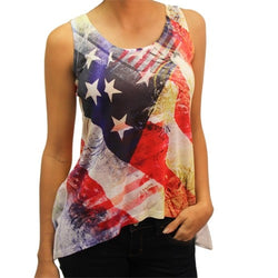 Stars and Stripes Ladies Tank - The Flag Shirt