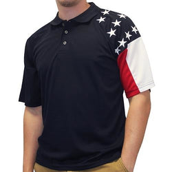 Men's Allegiance Freedom Tech Fabric Polo Shirt Navy - The Flag Shirt