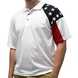 Men's Allegiance Freedom White Polo Shirt