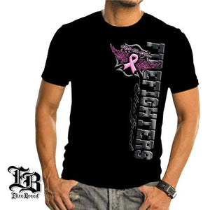 Elite Breed Firefighter Fight Breast Cancer Mens T-Shirt - The Flag Shirt