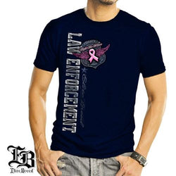 Elite Breed Law Enforcement Fight Breast Cancer Mens T-Shirt - The Flag Shirt