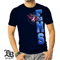 Elite Breed EMS Fight Breast Cancer Mens T-Shirt - The Flag Shirt