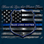 Load image into Gallery viewer, Blue Lives Matter Law Enforcement Mens T-Shirt - The Flag Shirt