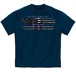 Blue Lives Matter Law Enforcement Mens T-Shirt - The Flag Shirt