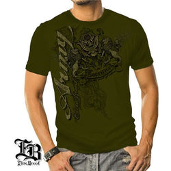Elite Breed Army Crest and Lions Mens T-Shirt