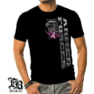 Elite Breed Armed Forces Fight Breast Cancer Mens T-Shirt - theflagshirt